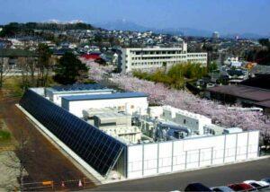Example of a customer microgrid at Tohoky Fukushi Universi-ty, Japan. (Courtesy of lbl.gov/Released)