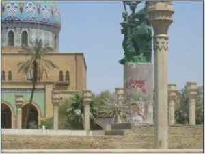 Graffiti in Freedom Square. Baghdad, June 2003. (Courtesy of Holly Hughson/Released)