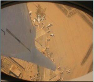 Spiral descent over Baghdad, June 2003. (Courtesy of Holly Hughson/Released)