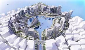 An artist's conception of the future Eko Atlantic complex. (Copyright EkoAtlantic.com 2014/Released)