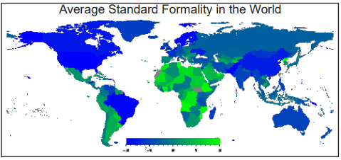 Figure 9. Average Standard Formality in the World