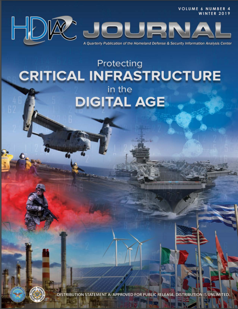 HDIAC Journal Winter 2019 - Protecting Critical Infrastructure in the Digital Age