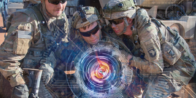 Photo illustration created by HDIAC and adapted from Adobe stock and U.S. Army photo (available for viewing at https://www.africom.mil/media-room/photo/29783/complex-drill-in-africa-challenges-preps-young-army-truck-drivers-for-combat)