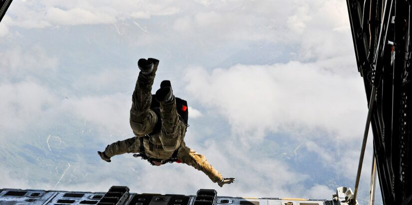 Jumping from plane 110623-F-XI929-029 (Source:  U.S. Air Force).