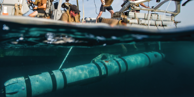 Thin-Film Perovskite Solar Cells for Powering Submerged Unmanned Underwater Vehicles
